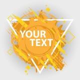 Bandera del chapoteo del Grunge Etiquetas de la salpicadura del vector con el espacio para el texto Escritura de la etiqueta de G Foto de archivo