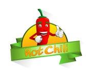 Bandera del chile picante Foto de archivo libre de regalías