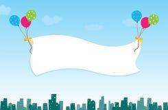 Bandera del cielo Fotos de archivo libres de regalías