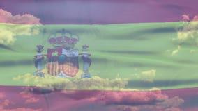 Bandera del cielo de España almacen de video
