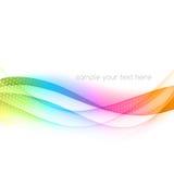 Bandera abstracta del color