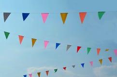 Bandera del color del triángulo Fotos de archivo libres de regalías
