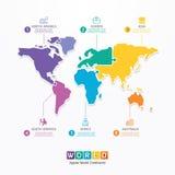 Bandera del concepto del rompecabezas de la plantilla de Infographic del mundo. vector. stock de ilustración