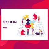 Bandera del concepto del trabajo en equipo Puede utilizar para la bandera del web, infographics, imágenes del héroe ilustración del vector
