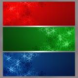 Bandera del copo de nieve Imagen de archivo