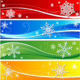Bandera del copo de nieve del invierno imagen de archivo libre de regalías