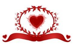 Bandera del corazón Fotografía de archivo libre de regalías