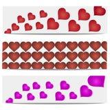 Bandera del corazón del ejemplo del vector Fotos de archivo