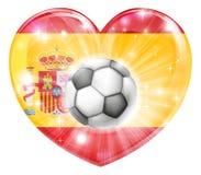 Bandera del corazón del fútbol de España Fotografía de archivo