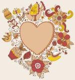 Bandera del corazón para los eventos de vida Fotos de archivo