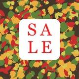 Bandera del cuadrado de la venta del otoño con la hoja libre illustration
