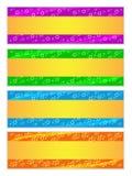 Bandera del día de fiesta con el movimiento de oro Imagenes de archivo