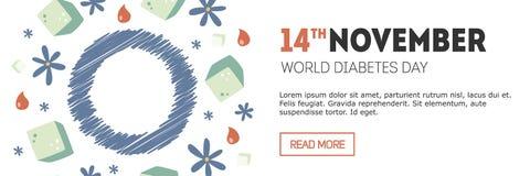 Bandera del día de la diabetes Foto de archivo