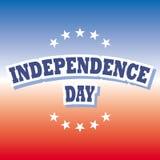 Bandera del Día de la Independencia Fotos de archivo libres de regalías