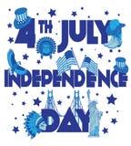 Bandera del Día de la Independencia de los E.E.U.U. Foto de archivo libre de regalías