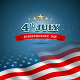 Bandera del Día de la Independencia del americano