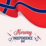 Bandera del Día de la Independencia de Noruega, diseño de la plantilla del vector del cartel ilustración del vector