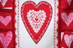 Bandera del día de tarjeta del día de San Valentín. Foto de archivo libre de regalías