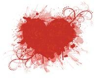Bandera del día de tarjeta del día de San Valentín. Fotografía de archivo