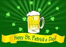 Bandera del día del St. Patrick Imagenes de archivo