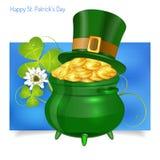 Bandera del día del St Patrick Imagen de archivo libre de regalías