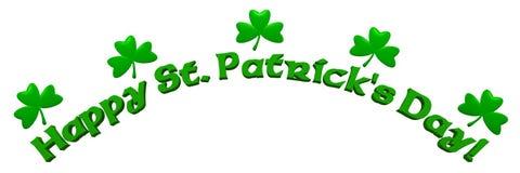 Bandera del día del St. Patrick Fotos de archivo libres de regalías