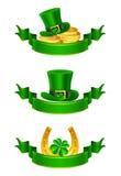 Bandera del día del St Patrick, conjunto Fotografía de archivo