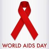 Bandera del Día Mundial del Sida ilustración del vector