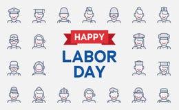 Bandera del Día del Trabajo stock de ilustración