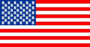 Bandera del dólar de los E.E.U.U. Fotos de archivo