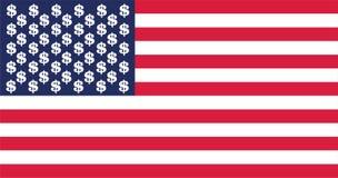 Bandera del dólar de los E.E.U.U. Imagen de archivo libre de regalías