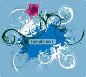 Bandera del decoratibe del vector Fotografía de archivo libre de regalías