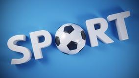 Bandera del deporte Foto de archivo