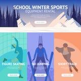 Bandera del deporte de invierno Imagen de archivo libre de regalías
