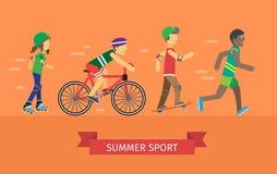 Bandera del deporte del verano Foto de archivo