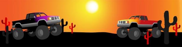 Bandera del desierto del carro de monstruo Libre Illustration