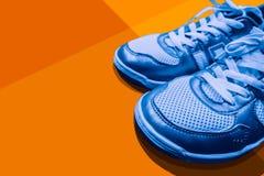Bandera del diseño del arte de los zapatos del deporte Imagenes de archivo