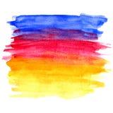 Bandera del diseño de la acuarela libre illustration