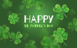 Bandera del diseño de la plantilla el día de St Patrick foto de archivo