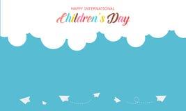 Bandera del diseño para el día de los niños