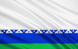 Bandera del distrito autónomo de Nenets, Federación Rusa ilustración del vector