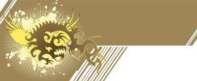 Bandera del dragón Imagen de archivo