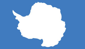Bandera del ejemplo del icono de la Antártida stock de ilustración