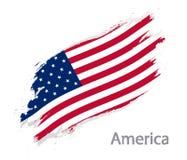 Bandera del ejemplo del vector del estilo del grunge de América aislado en blanco libre illustration