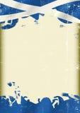 Bandera del escocés del Grunge Fotografía de archivo libre de regalías
