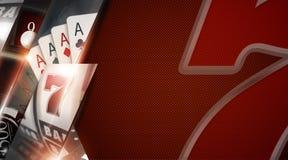 Bandera del espacio de la copia del casino ilustración del vector