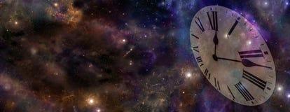 Bandera del espacio y del sitio web del tiempo Foto de archivo libre de regalías