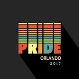 Bandera 2017 del espectro del arco iris del cartel del orgullo gay ilustración del vector