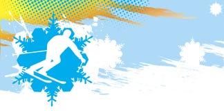 Bandera del esquí Fotografía de archivo