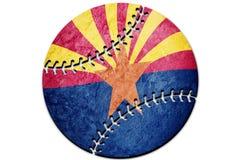Bandera del estado de Arizona del béisbol Béisbol del fondo de la bandera de Arizona libre illustration